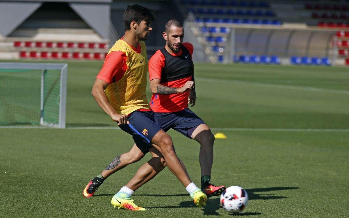 Primer entrenamiento para afrontar la Supercopa de España