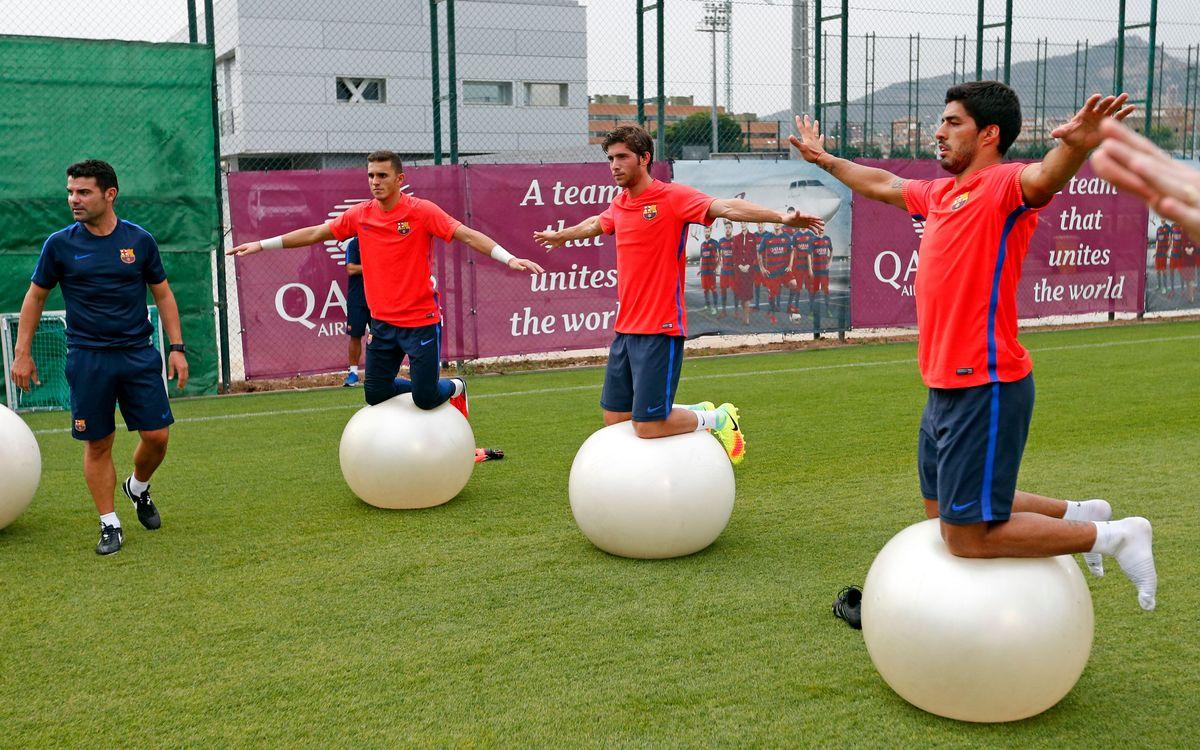 Doble sesión de entrenamiento para iniciar la preparación de la temporada 2016/17
