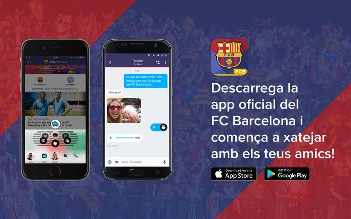 L'app del FC Barcelona s'actualitza amb un nou xat