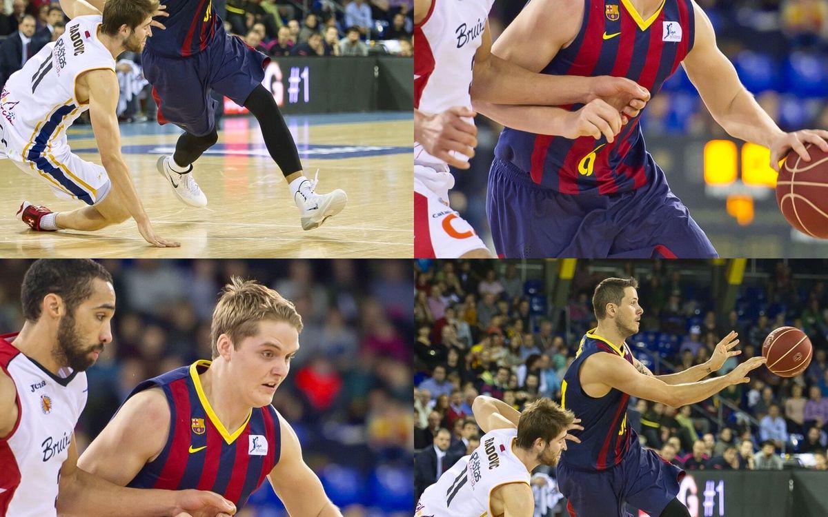 Bostjan Nachbar i Ludde Hakanson tornen al Palau vestint la samarreta del Baloncesto Sevilla