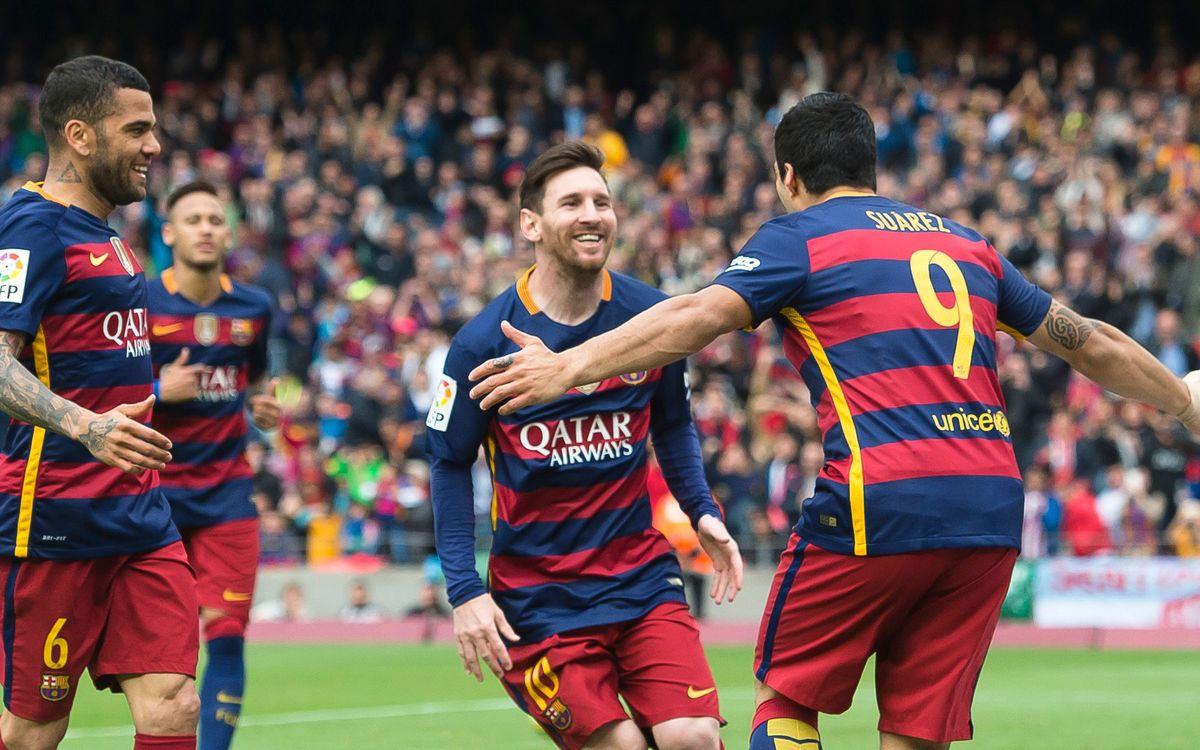 FC Barcelona – RCD Espanyol: Maneta al derbi per acariciar la Lliga (5-0)