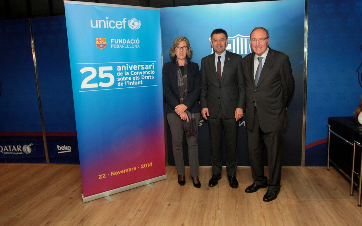 El Barça, amb l'Unicef al Camp Nou