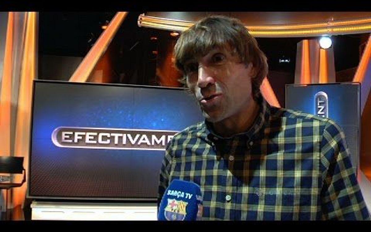Exjugadors del Barça i col·laboradors als mitjans de comunicació