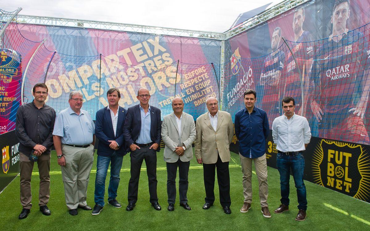 Inauguració de l'estand de 'FutbolNet' per les festes de la Mercè