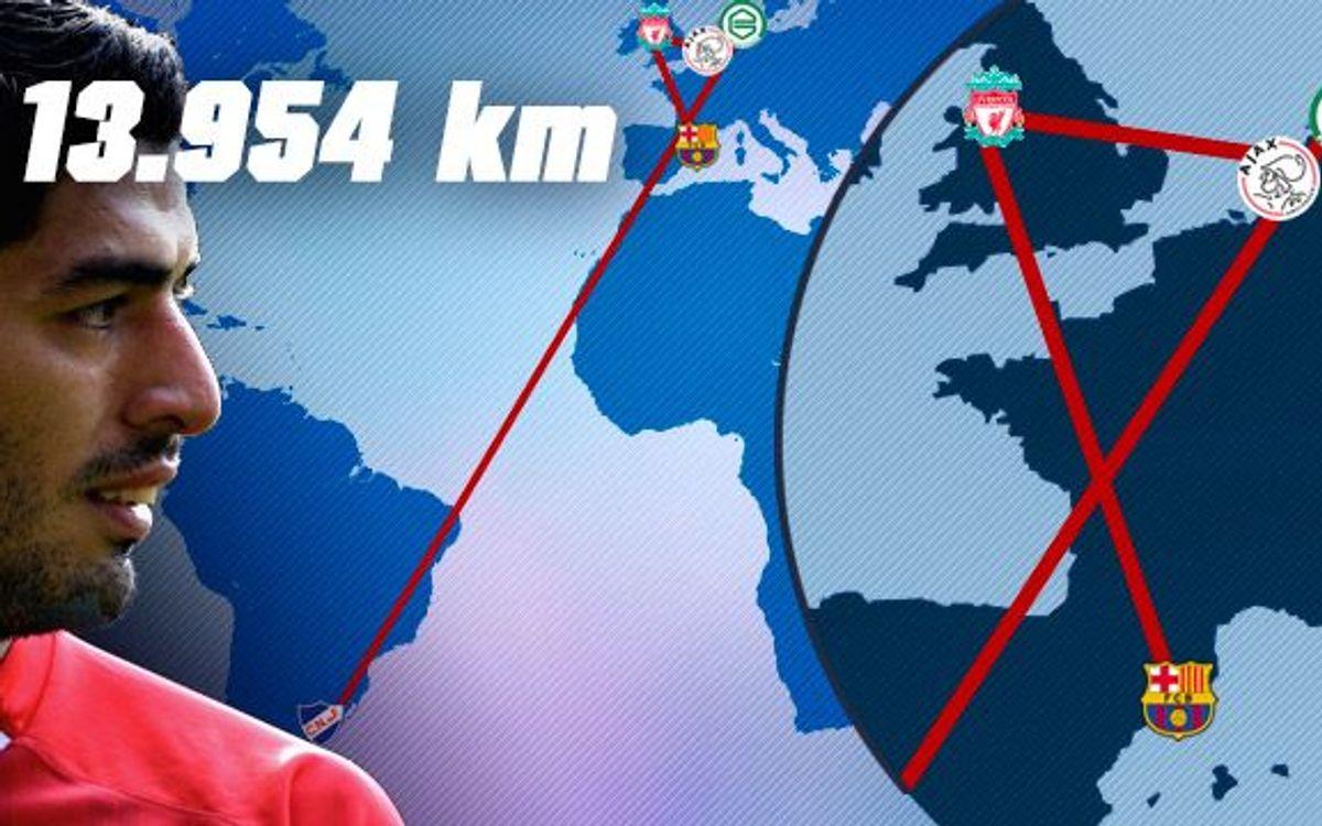 Un largo viaje de 13.954 kilómetros hasta la camiseta azulgrana