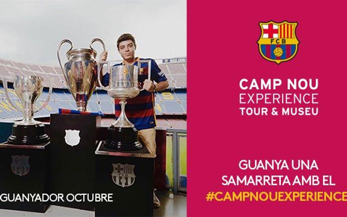 El concurs Camp Nou Experience d'octubre ja té guanyador
