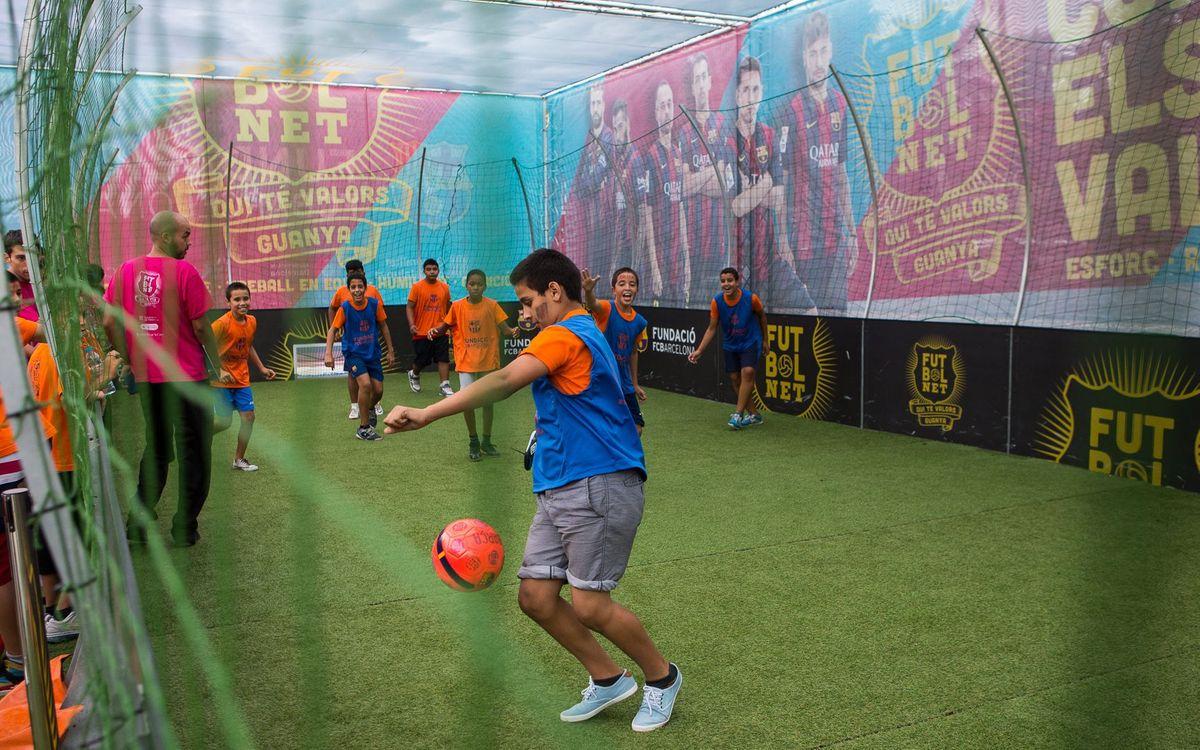 A les Festes de la Mercè es juga a 'FutbolNet'