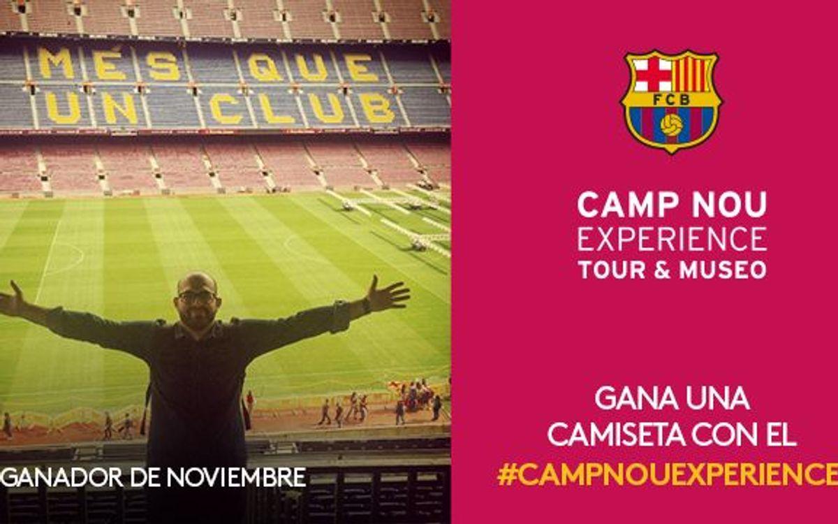 El concurso Camp Nou Experience de noviembre ya tiene ganador