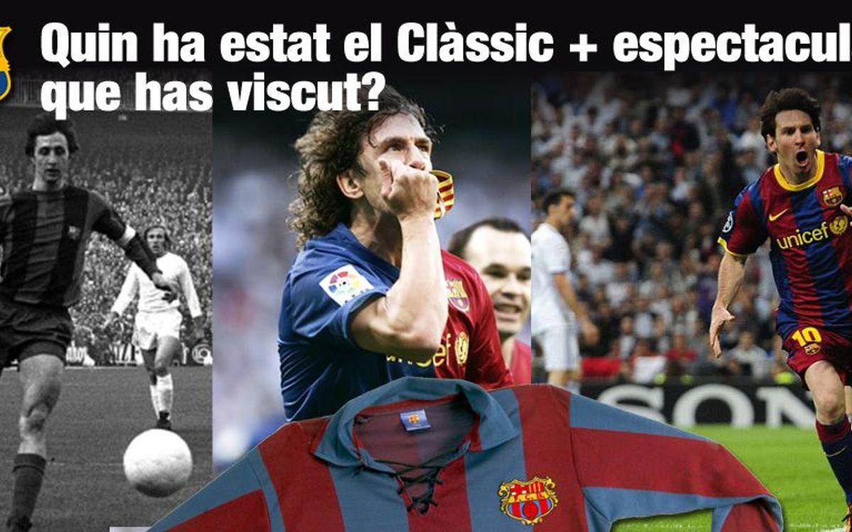La Crida de l'Agrupació: tria el Clàssic més espectacular que hagis viscut i guanya una samarreta vintage del Barça