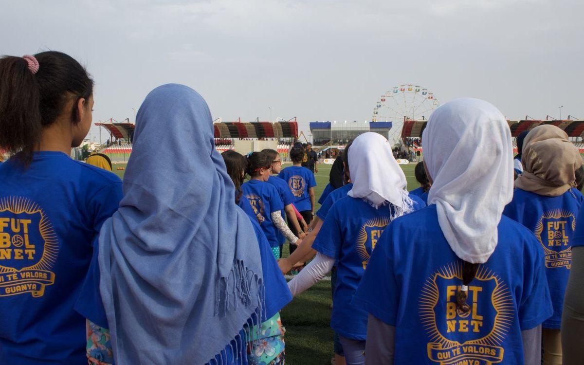 'FutbolNet' tanca amb èxit el seu tercer curs a l'Orient Mitjà