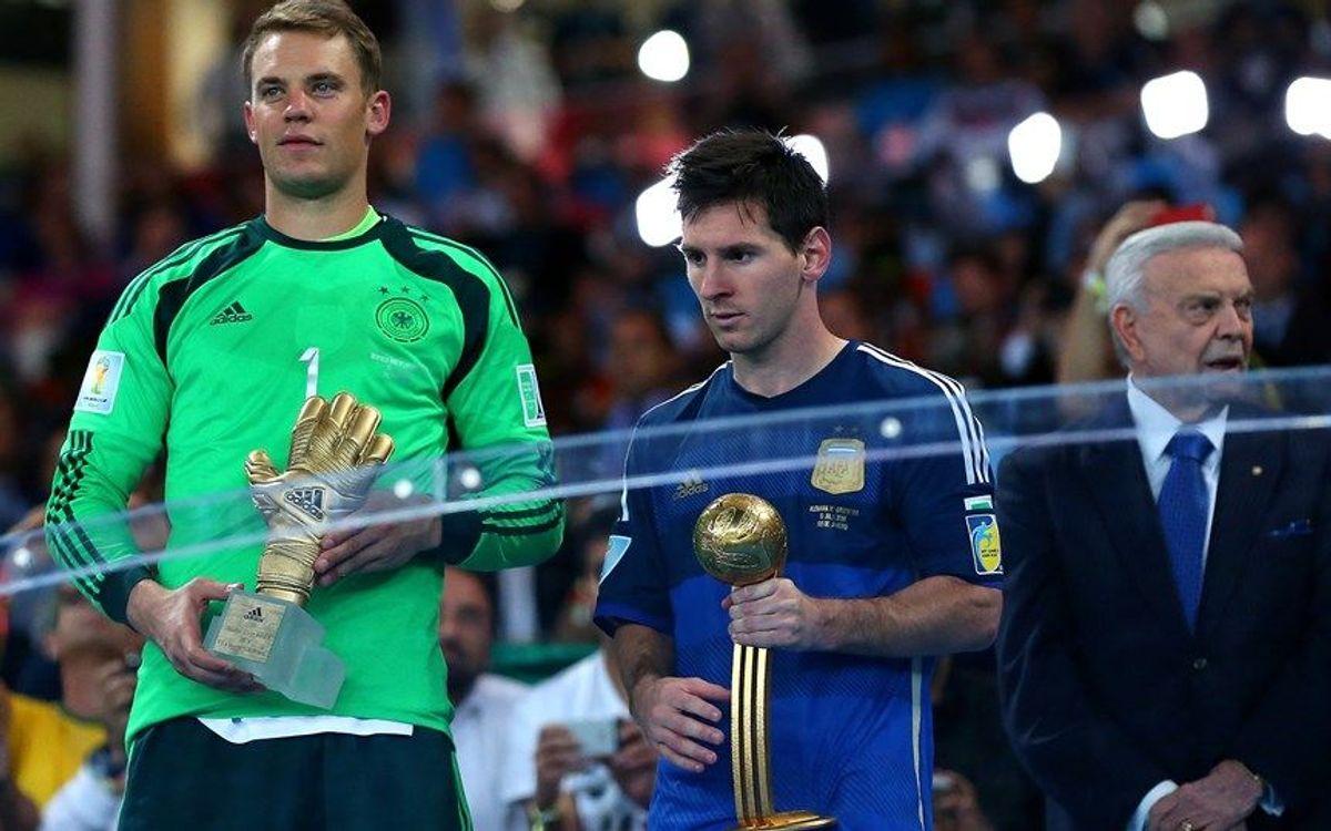 Leo Messi, Pilota d'Or del Mundial 2014