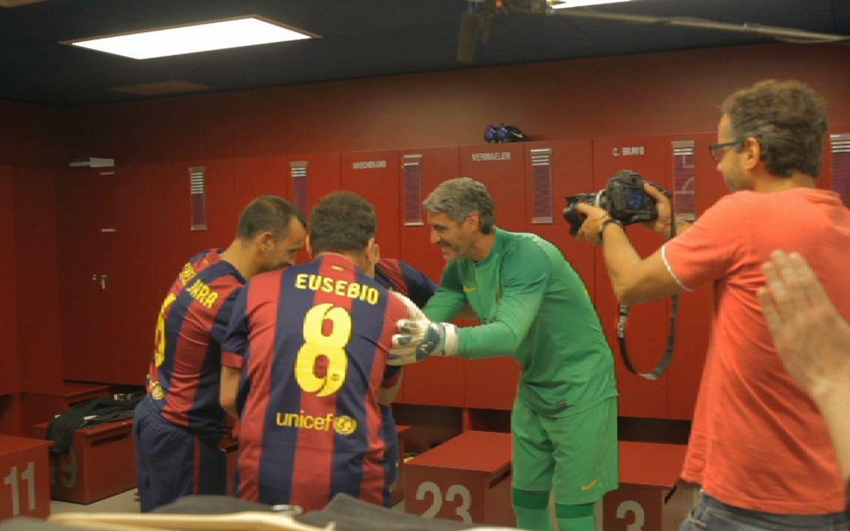 La gravació de l'esport del Premi Barça Jugadors, al Seguim en Joc