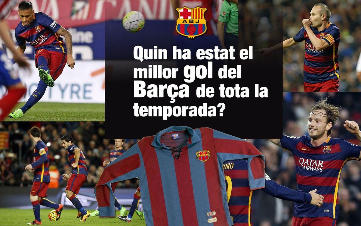 La Crida de l'Agrupació: tria el millor gol de la temporada i guanya una samarreta vintage del Barça