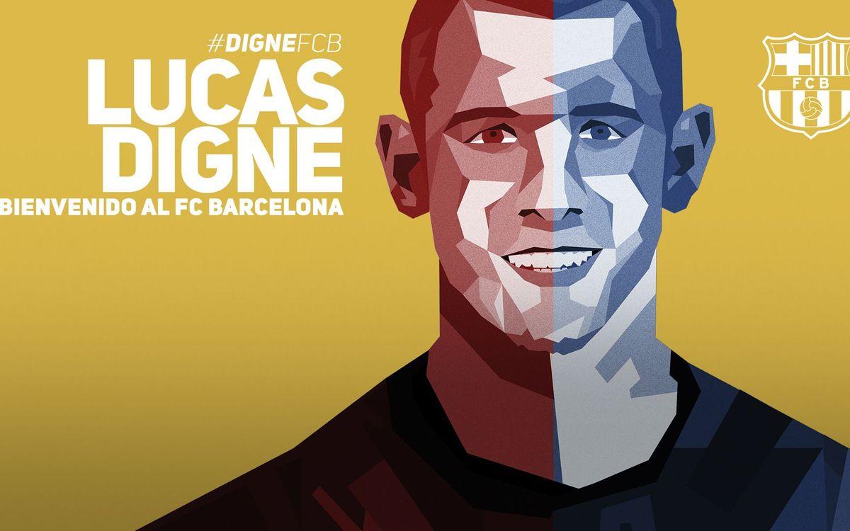 Lucas Digne, nuevo jugador del FC Barcelona