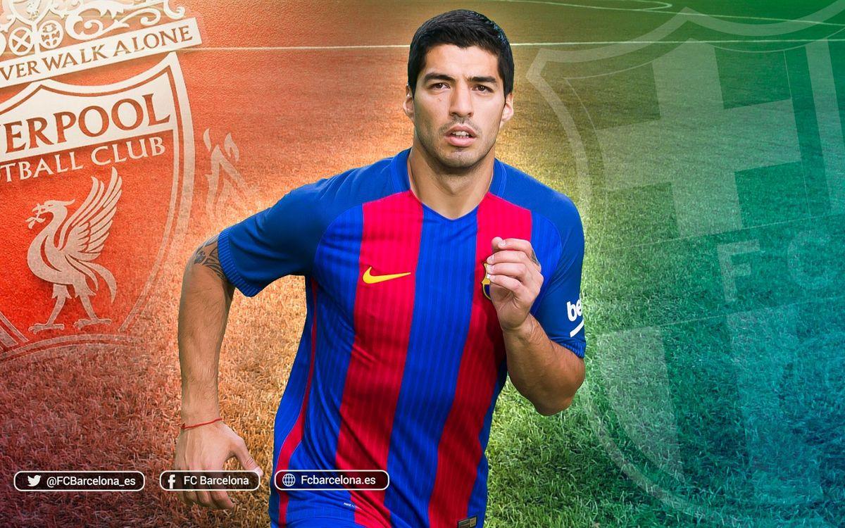 Primer enfrentamiento de Luis Suárez con el Liverpool