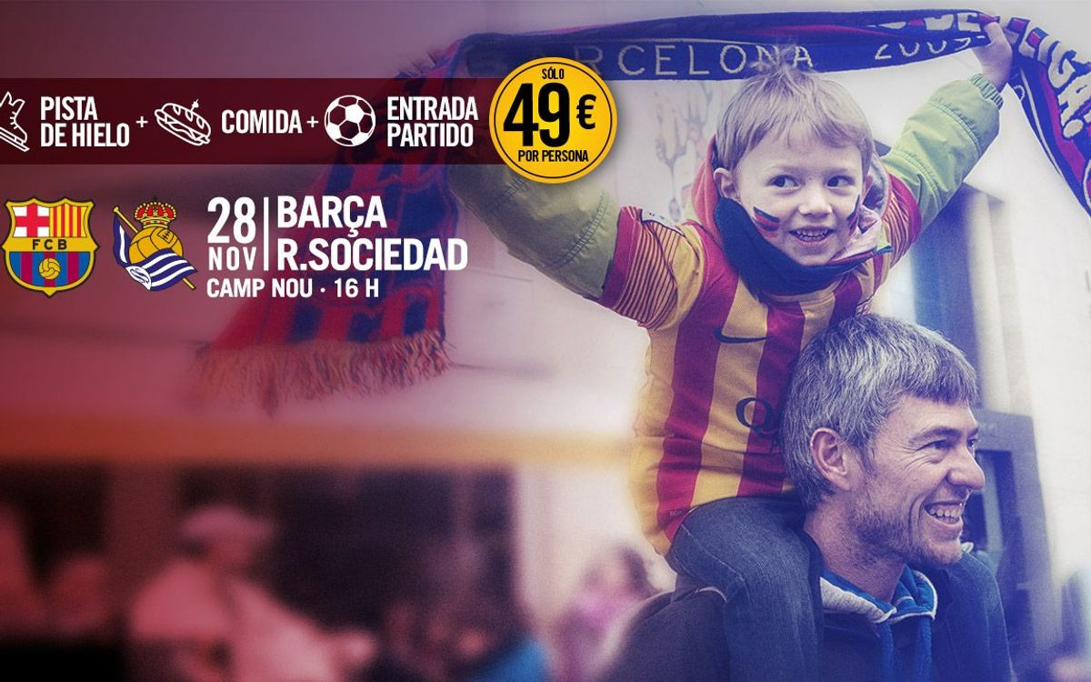 Pack Barça: Un día completo para pasar en familia