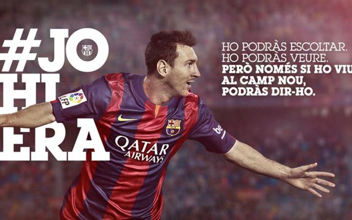 #Johiera, la nova campanya per promocionar l'assistència a l'Estadi