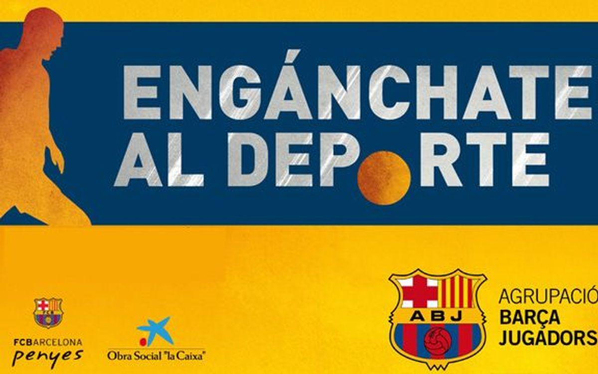 L'Agrupació Barça Jugadors estrena a La Corunya el nou projecte Engánchate al deporte