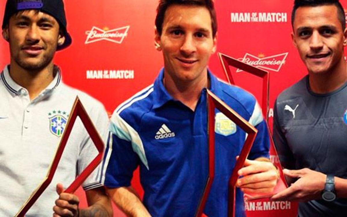 Tres MVP azulgrana en la primera jornada del Mundial de Brasil