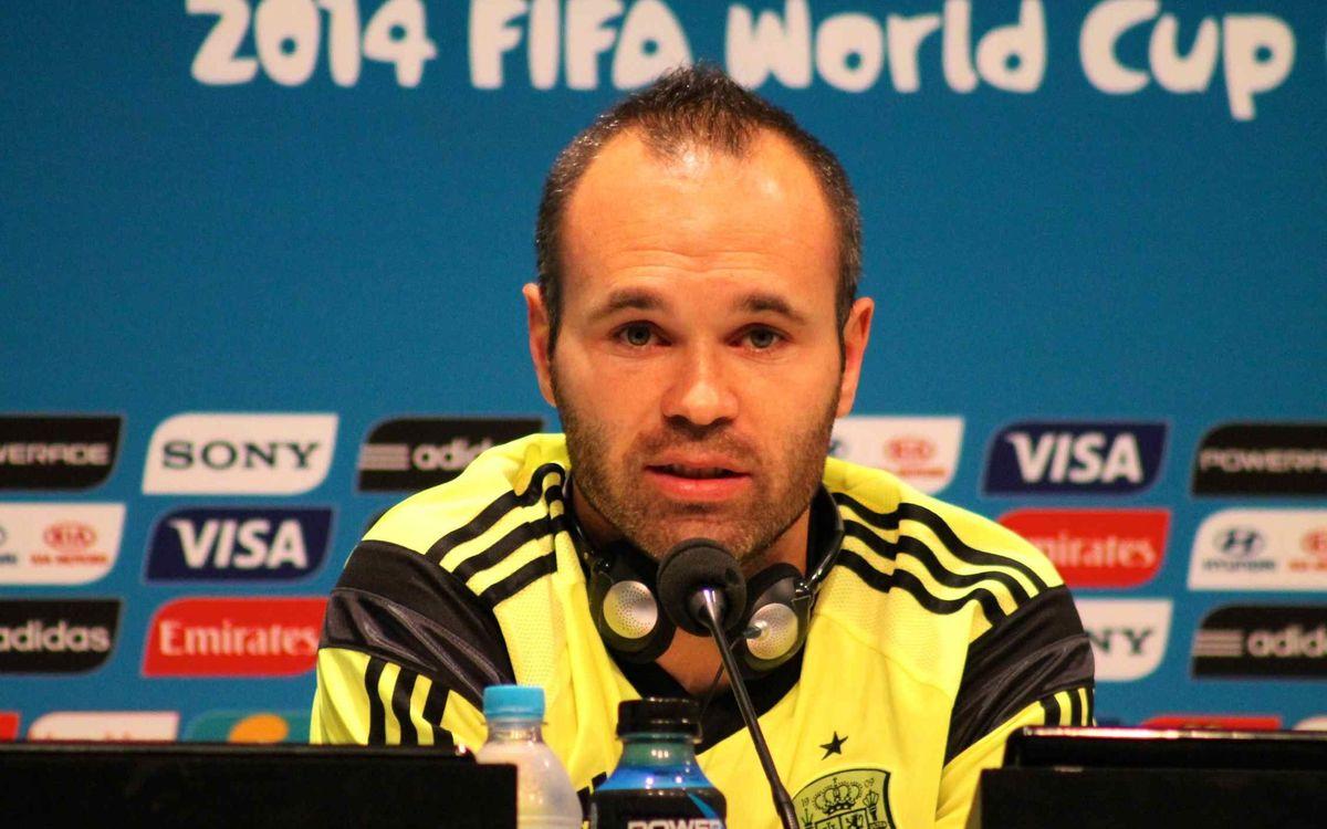 イニエスタ「オランダの試合は過去のものにしなければならない」