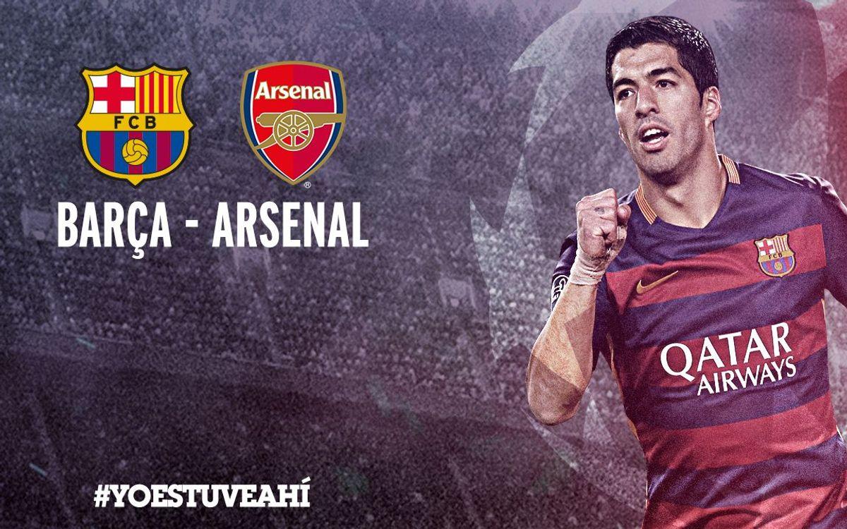 Las entradas para el Barça-Arsenal, a la venta a partir de este lunes