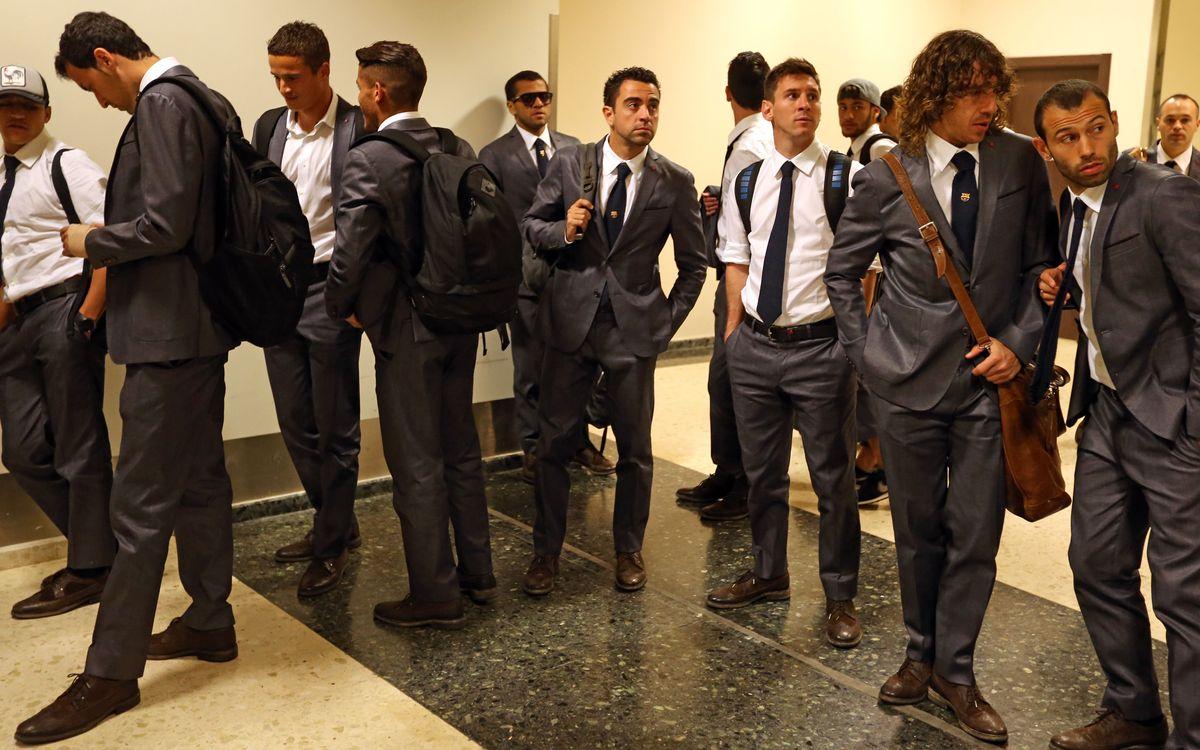 La llegada del Barça a Valencia