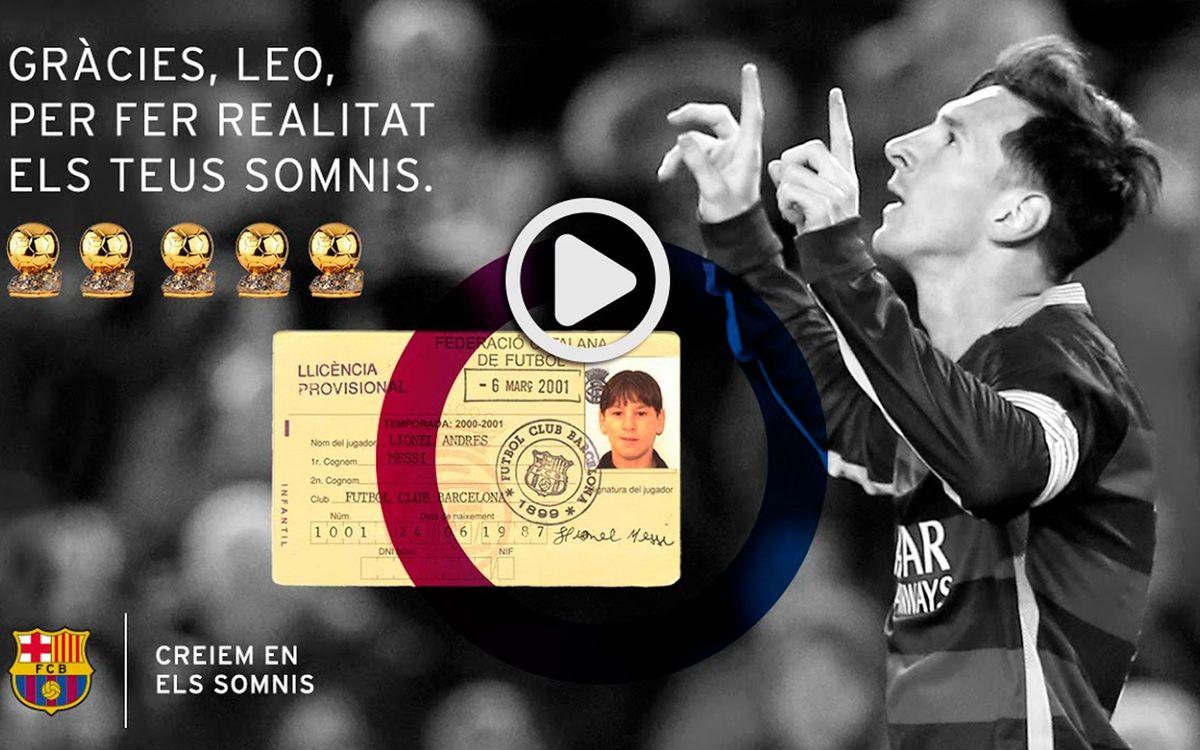 La cinquena Pilota d'Or de Messi: Creiem en els somnis