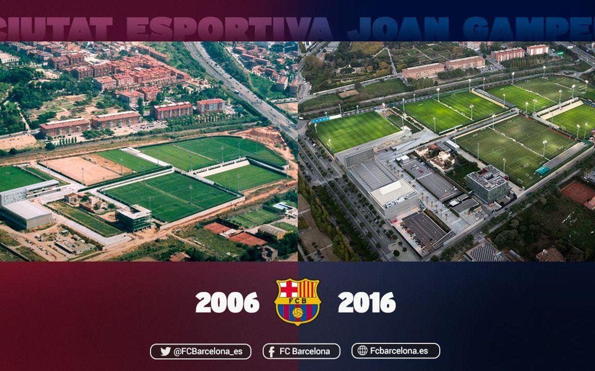 Diez años de la inauguración de la Ciudad Deportiva Joan Gamper