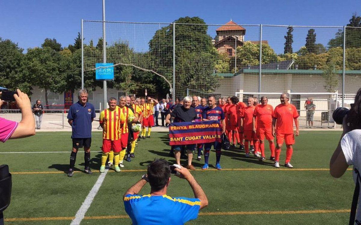 El equipo +55 de la Agrupació disputa un Triangular Social en Sant Cugat
