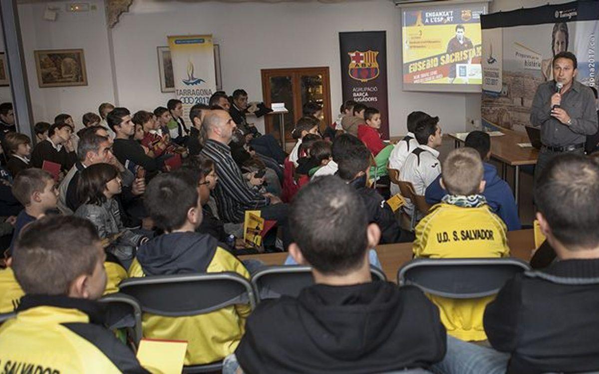 Eusebio tanca a Tarragona la temporada de l'Enganxa't a l'esport