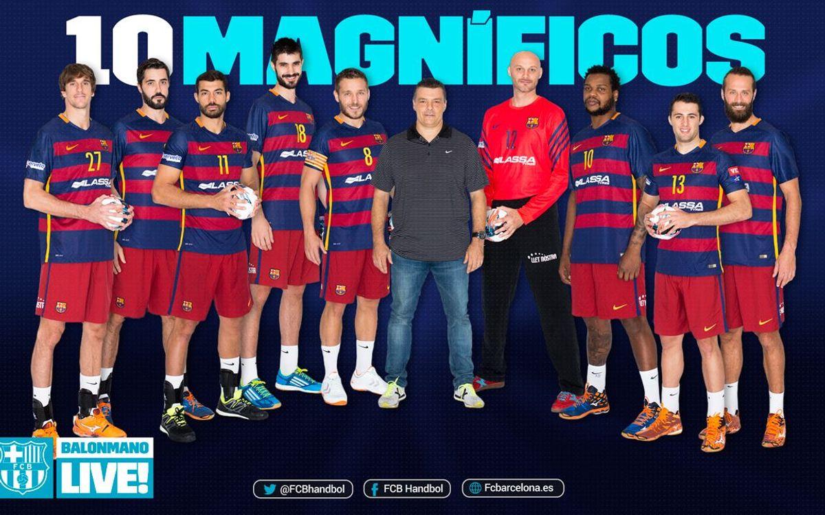 Los 10 magníficos del Barça Lassa de balonmano