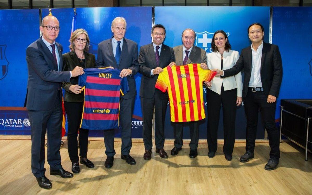 El FC Barcelona es troba amb l'UNICEF per tractar els reptes de futur