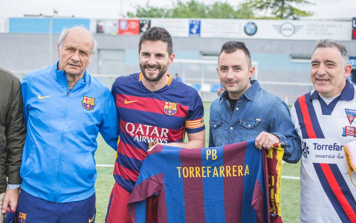 El equipo de la Agrupació Barça Jugadors se enfrenta al de la Peña Barcelonista Torrefarrera