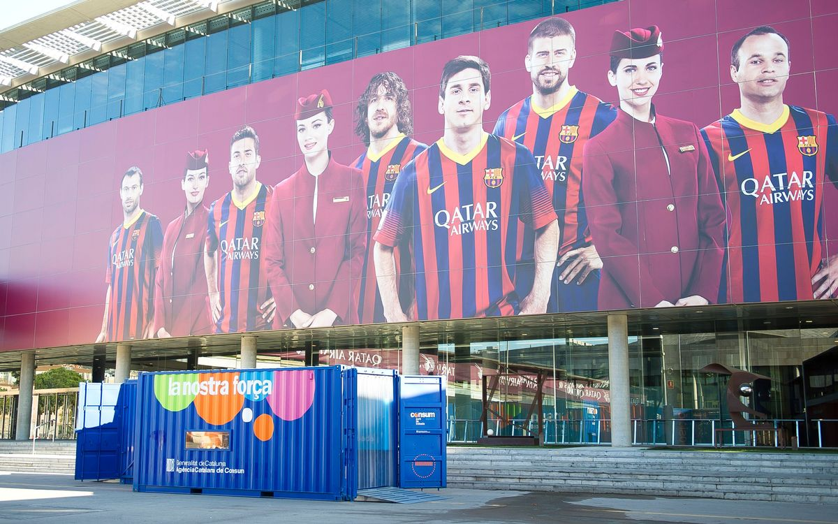 Responsible consumerism exposition at the Camp Nou