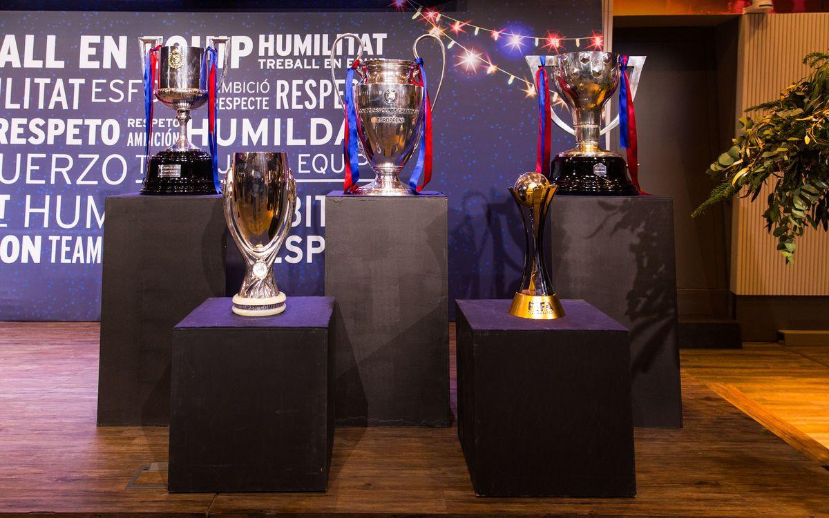 El Barça ofrecerá los cinco títulos a la afición antes del partido contra el Betis
