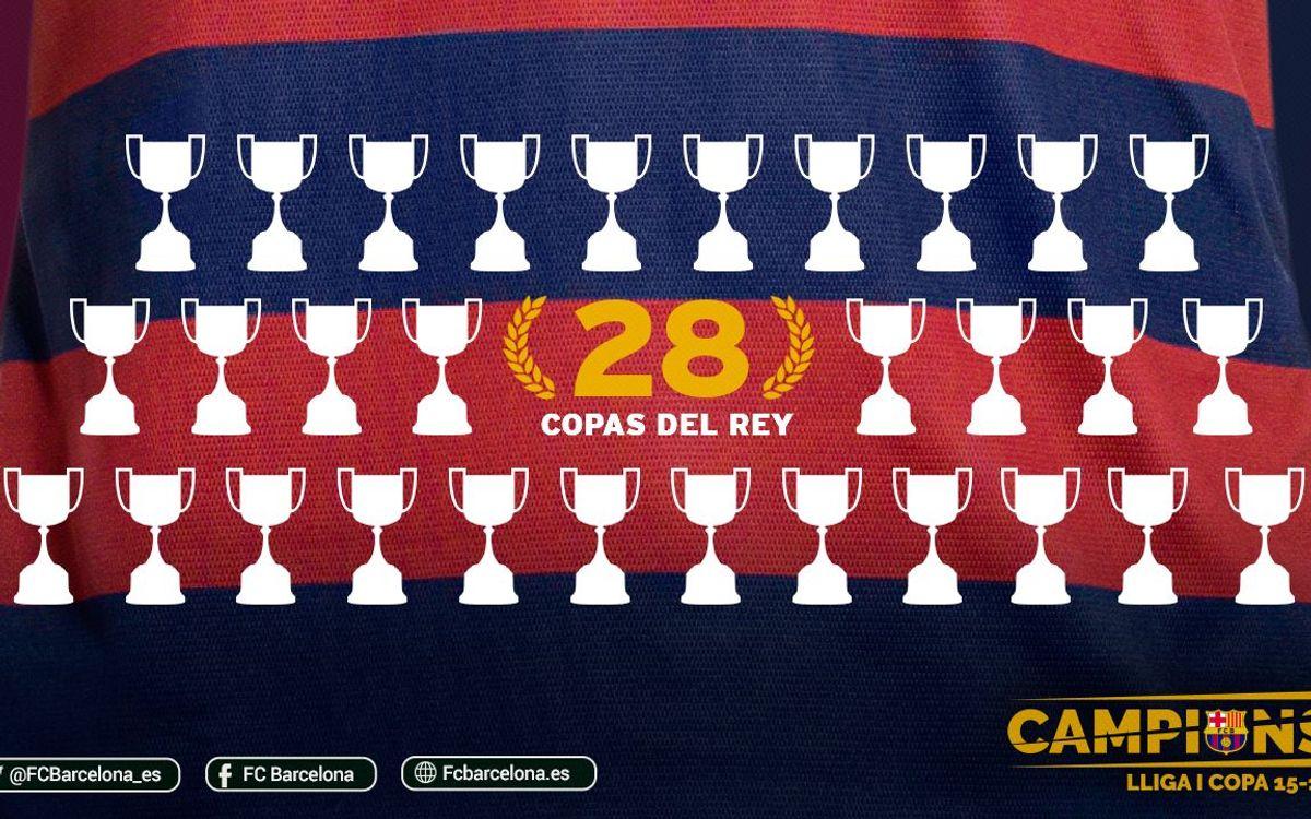 El Barça gana su 28ª Copa del Rey