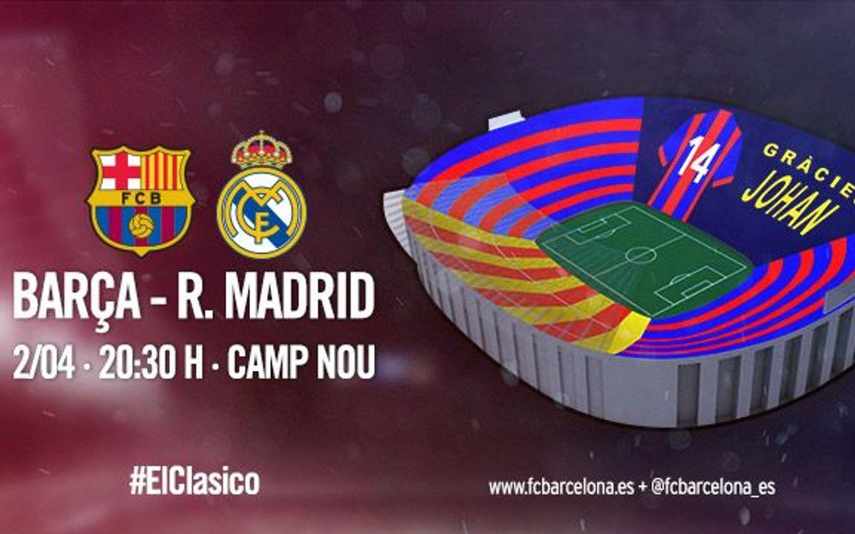 'Gracias Johan', el mensaje del mosaico del FC Barcelona - Real Madrid
