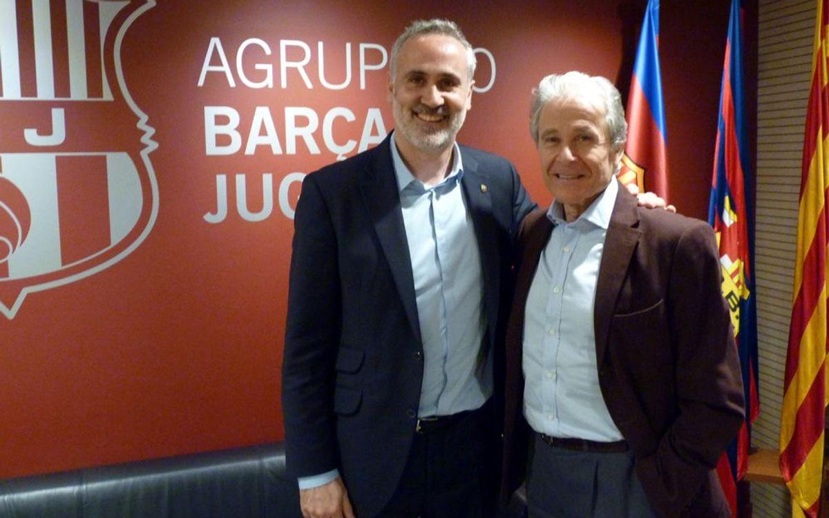 Reunión con los Veteranos del Basquet del FCB