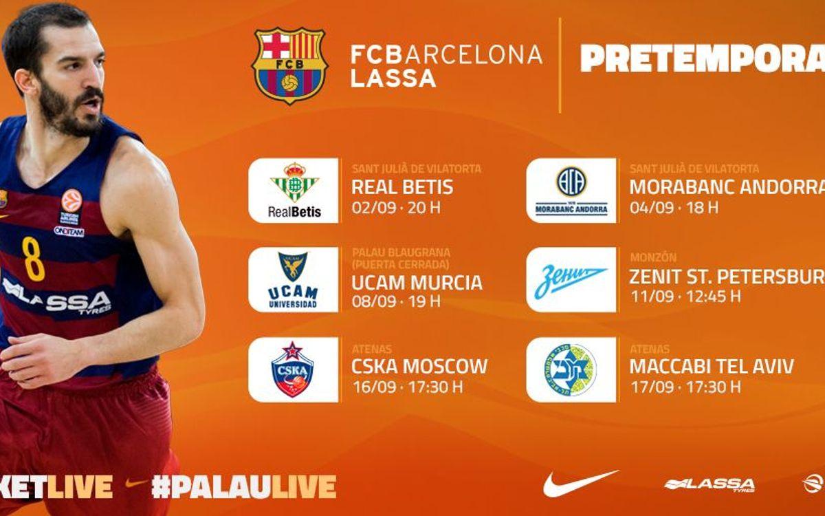 Los partidos de la pretemporada del Barça Lassa, al detalle