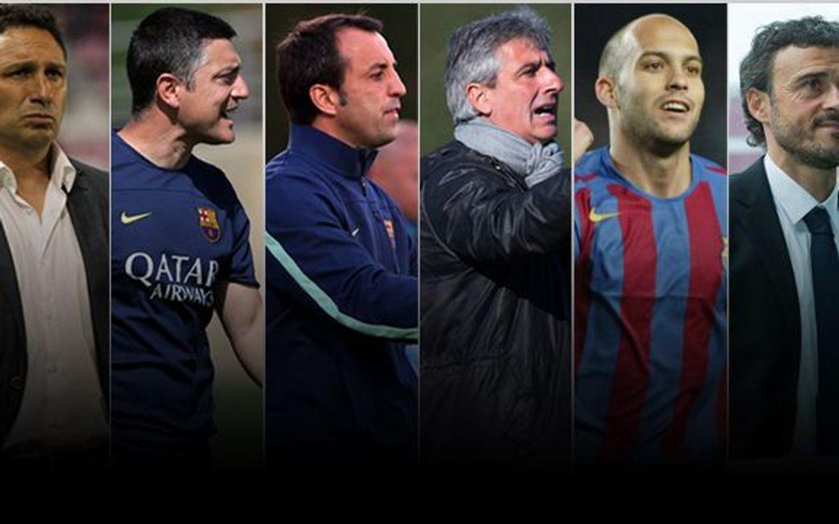 D'exjugadors a tècnics del Barça
