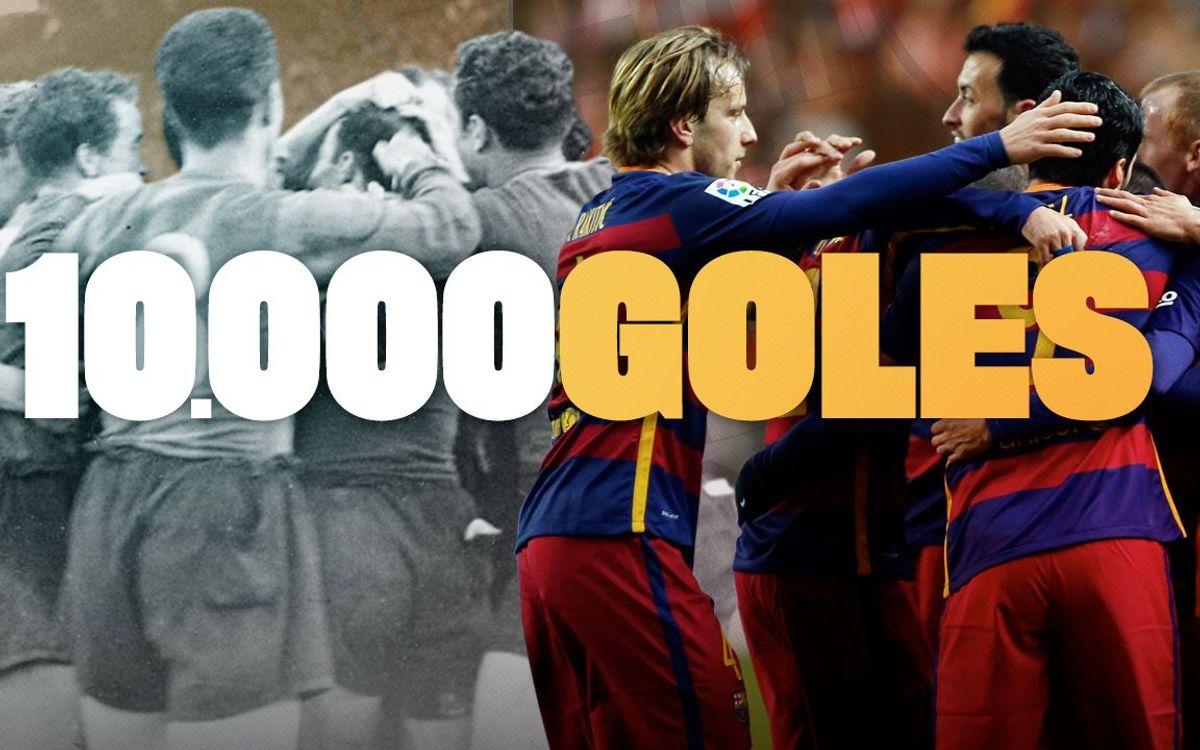 El Barça llega a los 10.000 goles en partidos oficiales