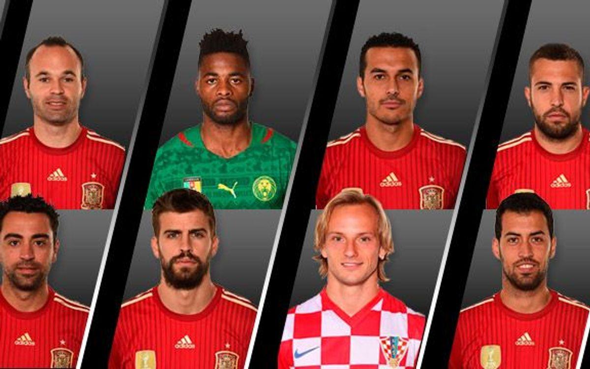 Balanç dels 8 mundialistes del Barça eliminats