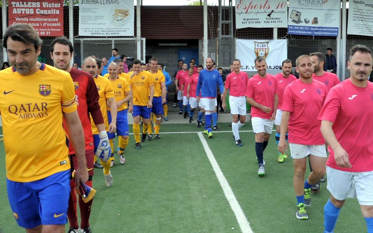 El equipo de la Agrupació Barça Jugadors se impone por 9 a 1 a los veteranos del CF Vilamajor