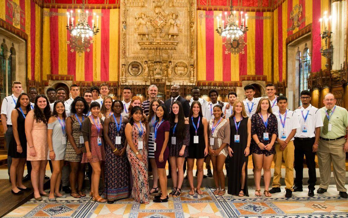 Primer dia d'activitats amb els joves de la Public School Athletic League de Nova York convidats per la Fundació
