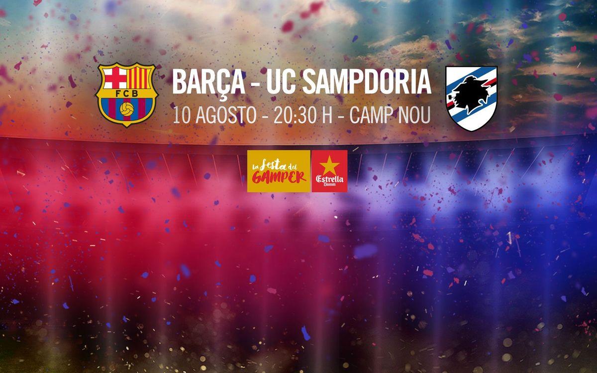 La Sampdoria será el rival en la 51ª edición del Trofeo Joan Gamper