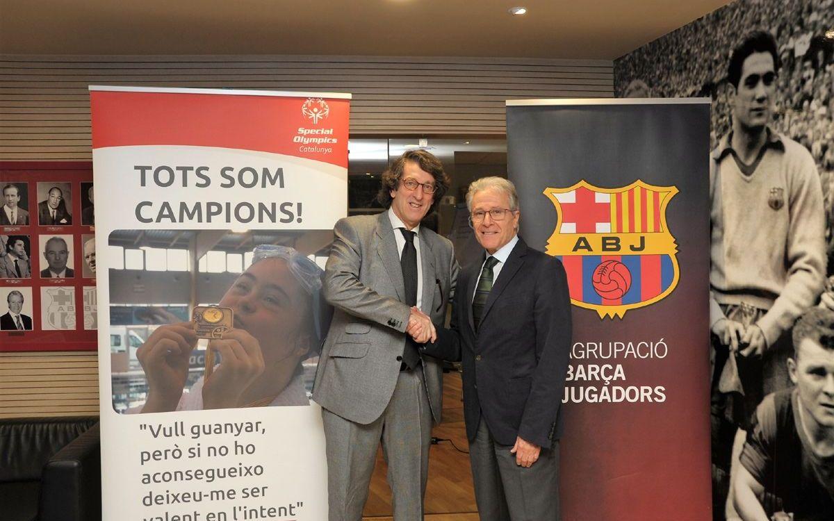 La Agrupació Barça Jugadors y Special Olympics Catalunya refuerzan la colaboración con un convenio