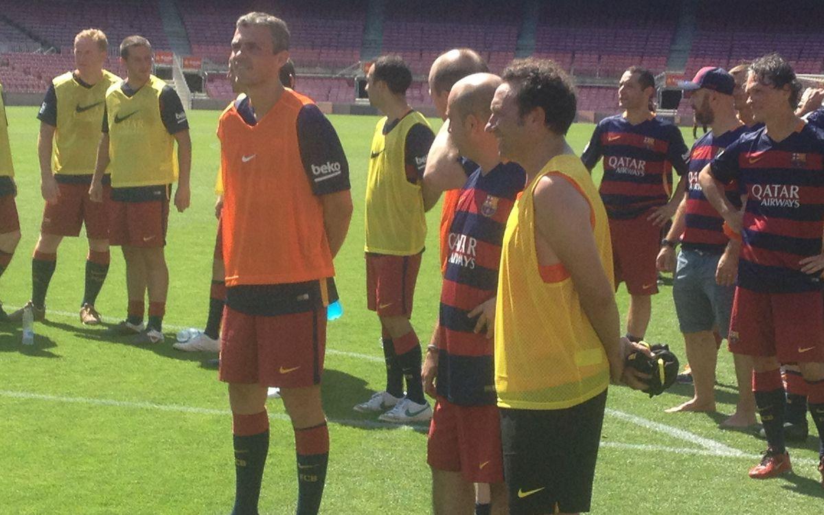 Eusebio, amb els patrocinadors del FCB