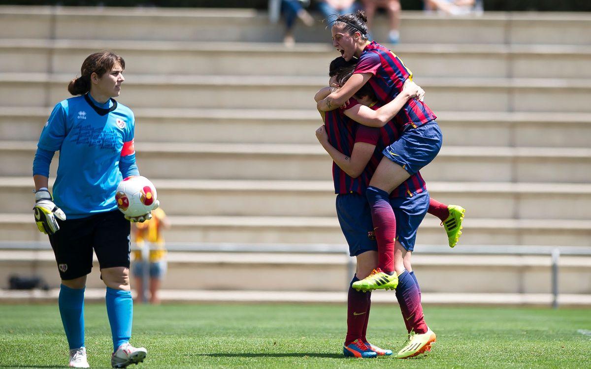Femení A - Rayo Vallecano: Arrenquen les semifinals amb avantatge (2-1)