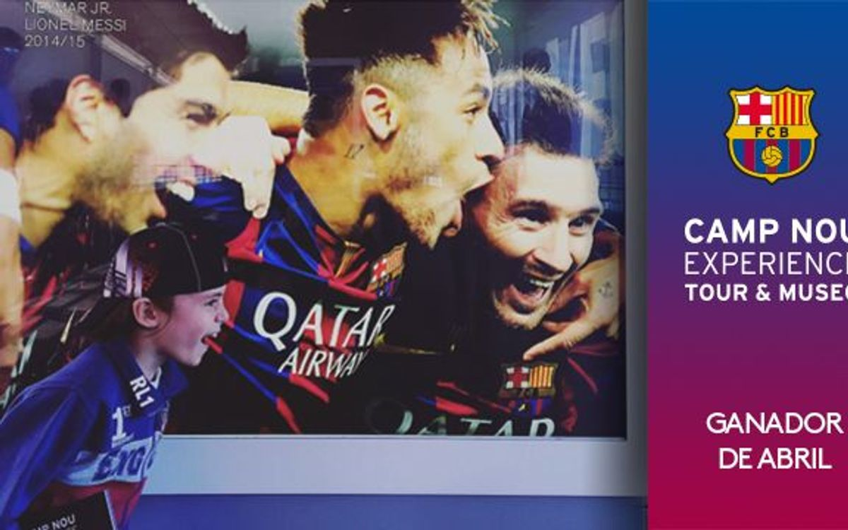 Ya se conoce el ganador del concurso 'Camp Nou Experience' del mes de abril