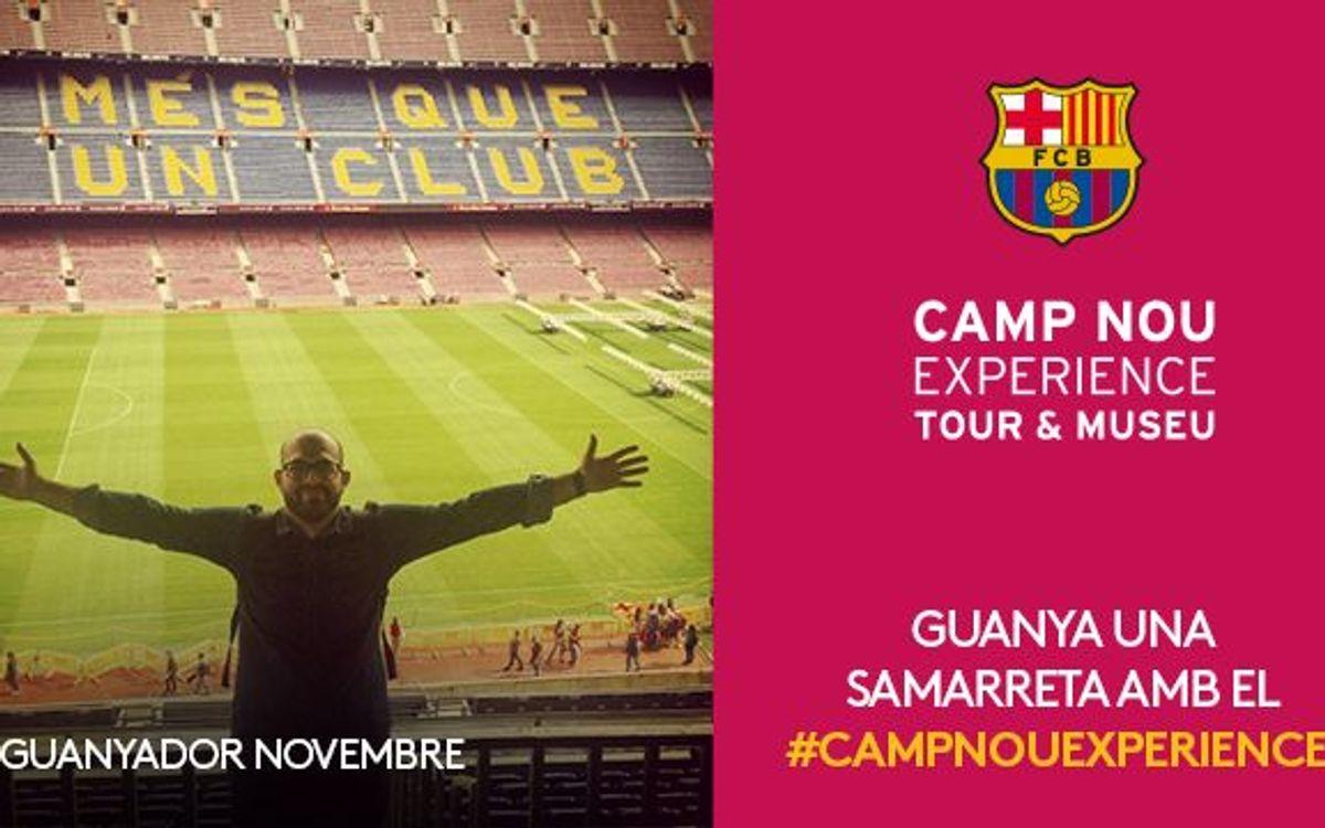 El concurs Camp Nou Experience de novembre ja té guanyador